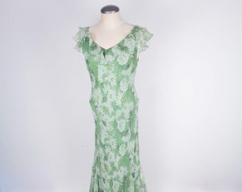 1960s Silk Floral Gown /& Jacket by Razooks from The Plaza Hotel in NYC 28 Waist