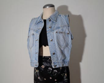 Hardcore Vintage 80/'s Georges Marciano for GUESS Denim Vest