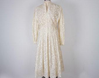242638358d9d Vtg 60s PAULINE TRIGERE Textured Abstract Vine Dress! Medium