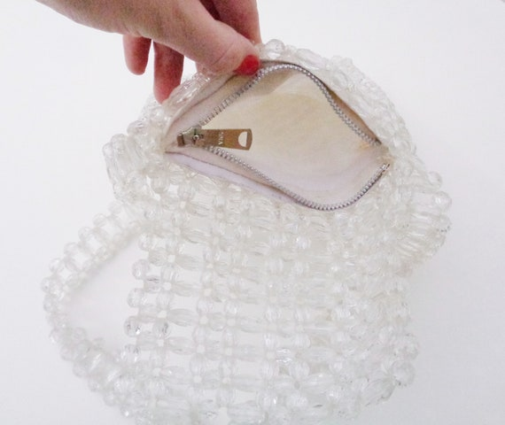Vtg 60s CRYSTAL BEADED Bag! - image 4