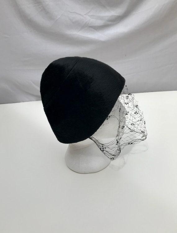 Vtg 60s CHRISTIAN DIOR ICONIC Mod Hat!