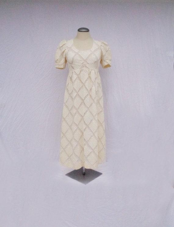 Vtg 60s BABYDOLL PUFF SLEEVE Dress! Small