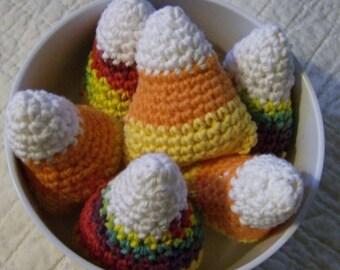 Bowl Fillers Holiday Candy Corn Crochet  Six Piece Set HN49