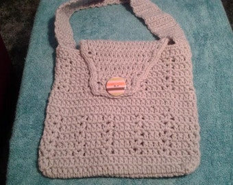 Lady's purse, Grey purse for everyday No110