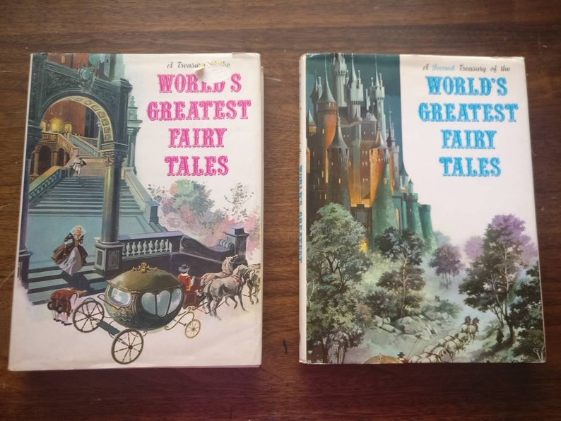 A Treasury of the World's Greatest Fairy Tales and A Second Treasury of the  World's Greatest Fairy Tales set  printed in Italy, hard cover