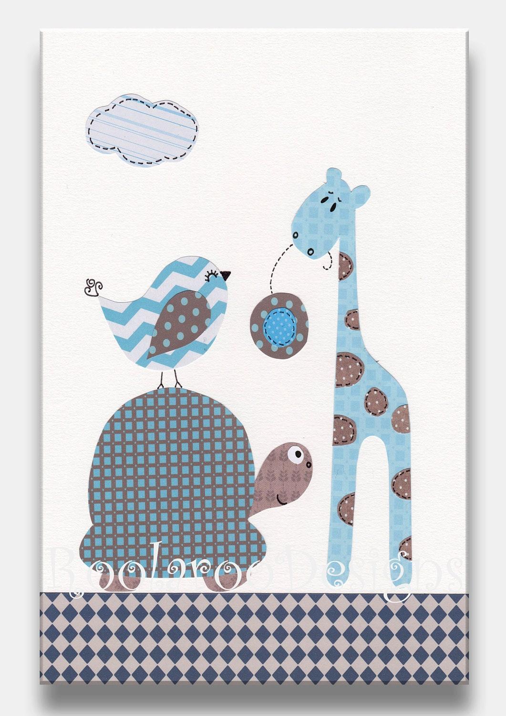 giraffe nursery decor baby boy wall art giraffe tortoise etsy. Black Bedroom Furniture Sets. Home Design Ideas