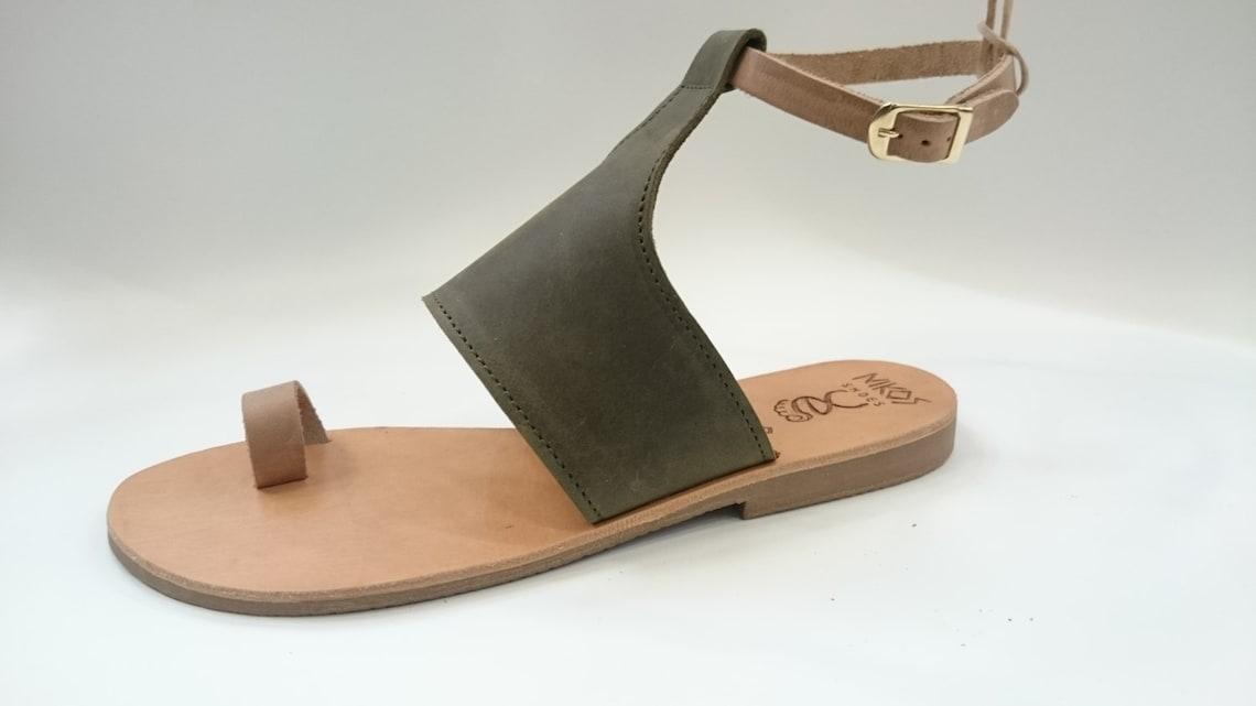 "Griego sandalias de cuero ""lydia"" código #170"