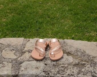 "Greek Leather Sandals ""chloe"" code #188-A"