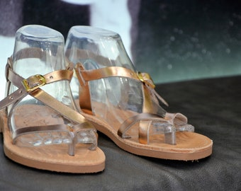 "Greek Leather Sandals ""xenia"" code #104"
