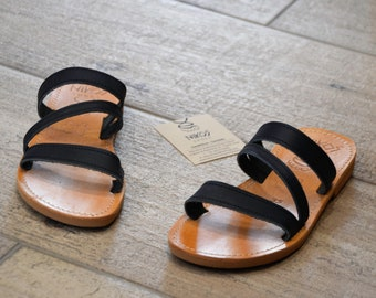 "Greek Leather Sandals ""cymone"" code #113"