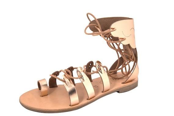 1e555c288c3b Greek Leather Sandals gaia code 90