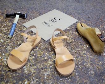 "Greek Leather Sandals ""iris"" code #204"