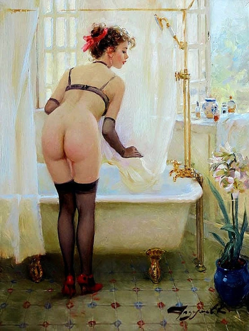 High Quality oil painting Hand painted Modern Nude Girl art On Canvas  RA135D