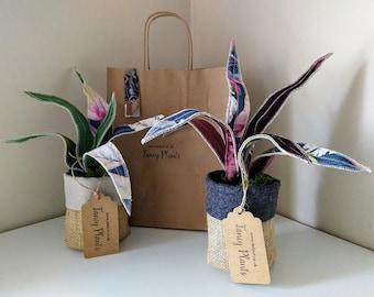 Handmade fabric 'FancyPlant'