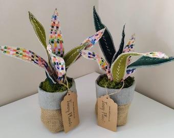 Fabric 'Fancy Plant' handmade fabric plant