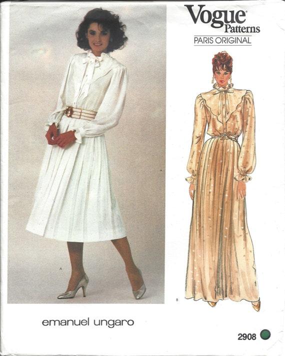 Vogue costura Vintage patrón 2908 Paris Emanuel Ungaro | Etsy