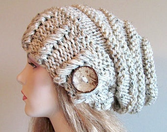 04849601d Slouchy Beanie Slouch Hats Oversized Baggy Beehive Beret   Etsy
