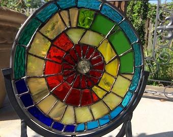 Stained Glass Sculpture Mandala Abstract Suncatcher