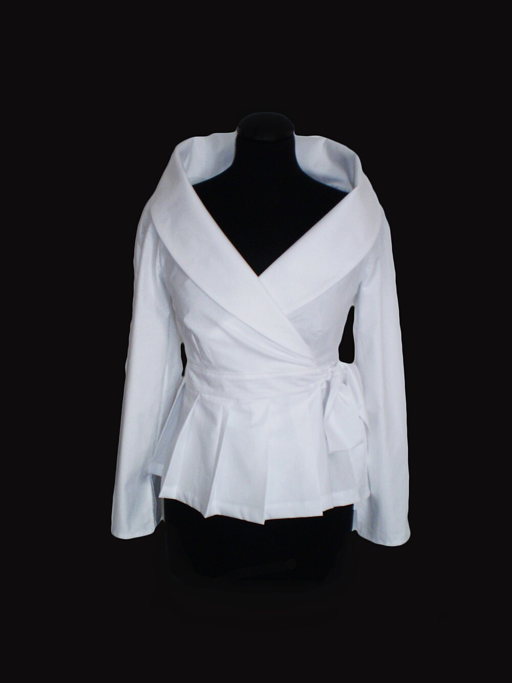 cca13023400a07 White shirtWomen White Wrap Blousecotton blouse Smart