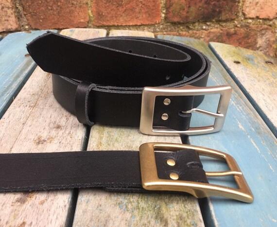 Para hombre traje forrado de cuero hebilla de metal Cinturón-De 30 a 48 pulgadas