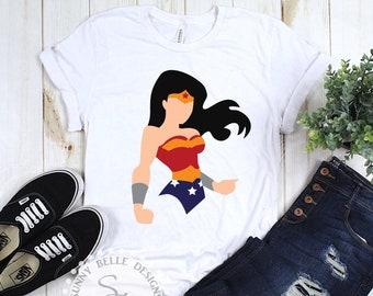 fd91460a Wonder Woman Shirt; Wonderwoman shirt; Ladies' Shirt; Powerful Woman shirt;  Mother's Day shirt