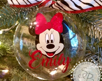 Minnie Mouse Ornament Etsy