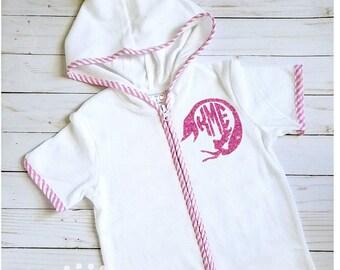 378b2a9cf17fe Personalized Swim Cover; Baby Girl's Swim Cover; Terry Cloth Swim Cover