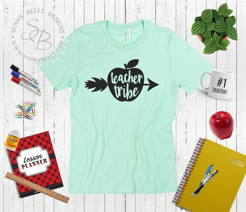 eb01ff48 Teacher Tribe Shirt Cute Teacher T-shirt Back to School | Etsy