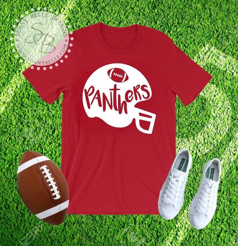 Panther Football Shirt Football Helmet
