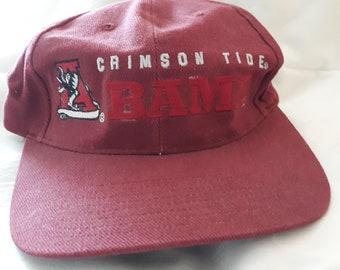 b861ef7849c2f8 Crimson Tide Bama Baseball Cap / Vintage University of Alabama Cap