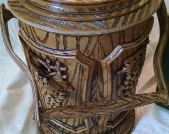 Vintage Retro Wood Grained Ice Bucket