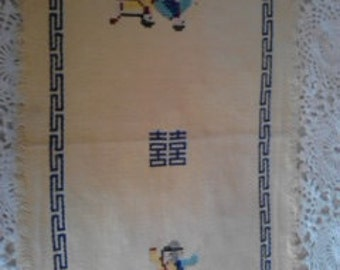 Vintage ricamato Folk Design Mat ECS