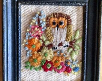 Crewel Owl Picture