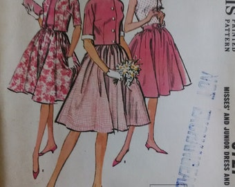 Vintage 1963 McCall's Pattern  Dress and Jacket  Size 12