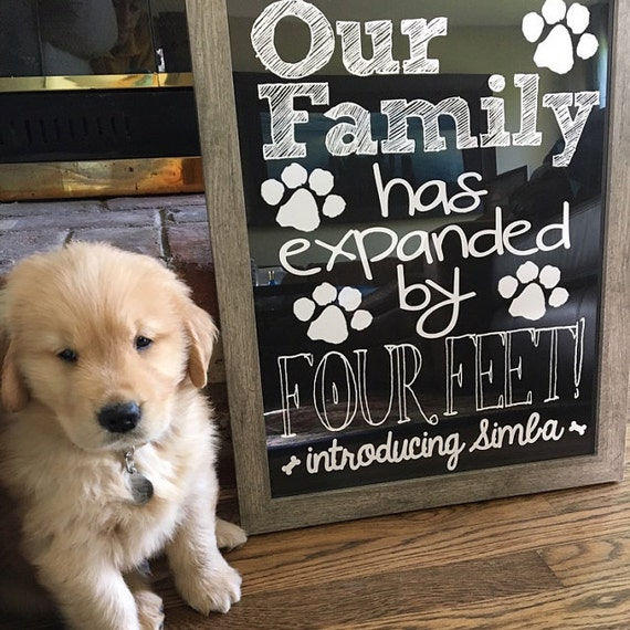 New Puppy Announcement Personalized Our Family Has Expanded