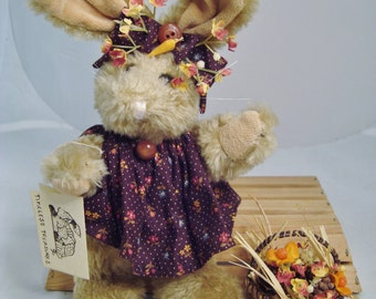 Plush Decorator Bunny with Bittersweet Basket
