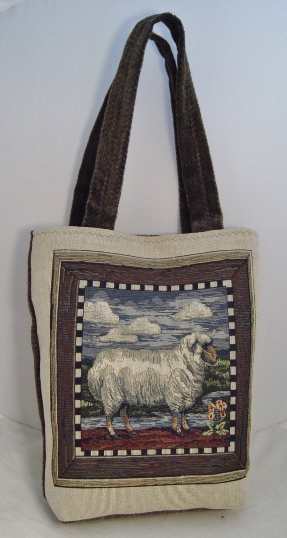 Handcrafted Tapestry Tote Bag Fully-lined with Interior   Etsy f8f705d238
