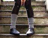 Dark Blue legwarmers / Open toe Yoga Spats /  boot cuffs