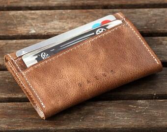 Birthday Gift for Men   Leather Wallet, Minimalist Wallet