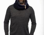 One loop Blue scarf