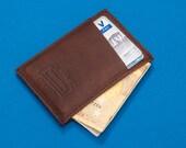Front Pocket Slim Leather Wallet for Men