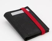 Slim | Minimalist Leather Wallet | Deep Black | Front Pocket Wallet
