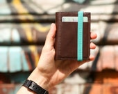 Coffee brown stylish leather wallet