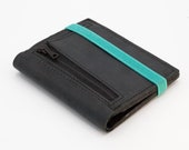 Minimal Black Leather Wallet for Men Gift For Him