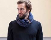 Infinity Scarf, Mens Scarf, Gift For Him, Scarf, Scarves, Men, Gift For Him, Man Scarf, Mens Scarves, Winter Scarf, For Men, Cotton Scarf