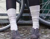 Light Blue legwarmers / Open toe Yoga Spats /  boot cuffs