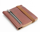 Leather Wallet, billfold wallet, Wallet With external coins pocket, By Gazur