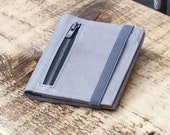 Leather Wallet | Mens Wallet | Mens Wallet Bifold / Cloudy Gray