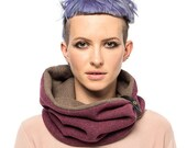 Women one-loop scarfe wool knit  - gift for her