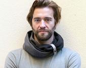 Elegant double loop scarf, 100% cotton, Scarf for Men